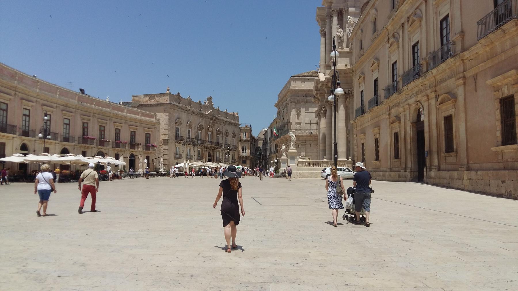 Sicilië 2015, Syracuse, Piazza del Duomo